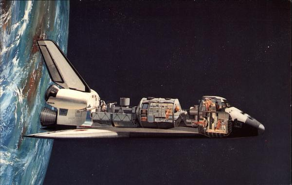 A key shuttle payload is Spacelab Center Space & Rockets