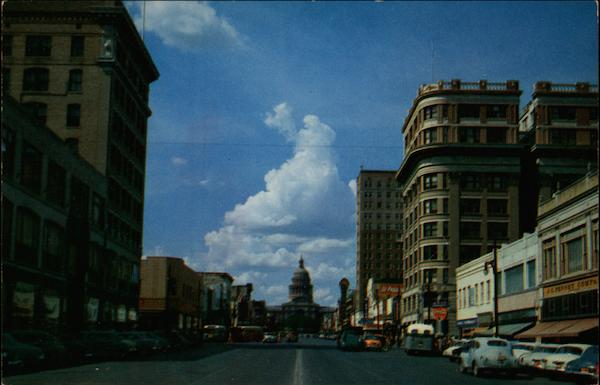 Congress Avenue looking toward the Capitol Austin Texas