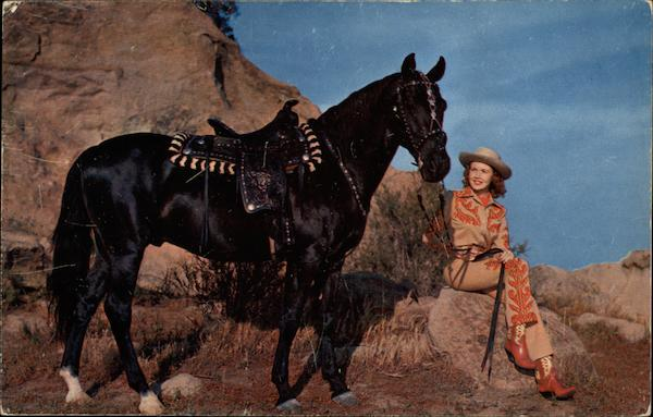 Cowgirl and Mount Cowboy Western