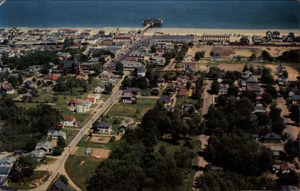 Aerial view of Old Orchard Beach Maine