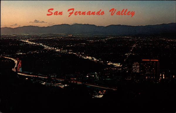Aerial View of San Fernando Valley California