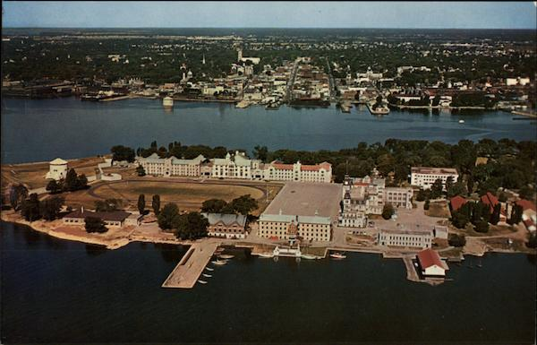 Aerial View of Royal Military College Ontario Canada