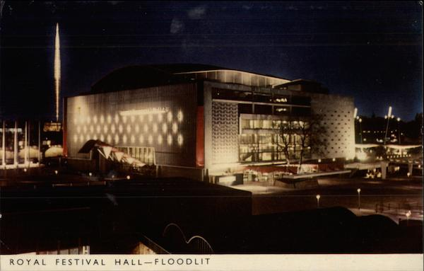 Royal Festival Hall - Floodlit London United Kingdom