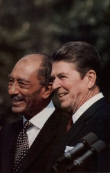 President Reagan Meets with Egyptian President Anwar Sadat