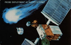 Probe Deployment At Halley's Comet