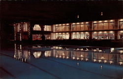Reflections in the Pool At Mount Airy Lodge