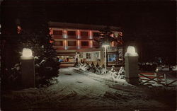 A winter view of Mount Airy Lodge