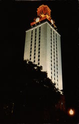 University of Texas Tower after a winning Longhorn event