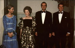 King Juan Carlos of Spain and his wife, Queen Sophia with the Reagans