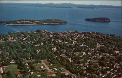 Aerial View of The Village of Bar Harbor