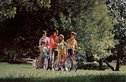 Family on Bike Ride