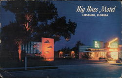 Big Bass Motel Postcard