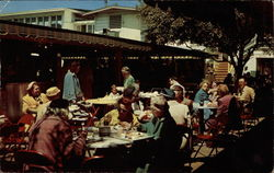Original Farmers Market, Outdoor Dining Postcard