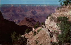 Battleship Rock and Bright Angel Trail