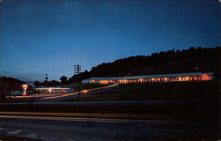 Night View Johnson's Motel & Restaurant Postcard