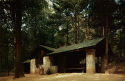 Cabin at Clear Creek State Park Postcard