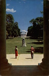 The Lawn, University of Virginia Postcard