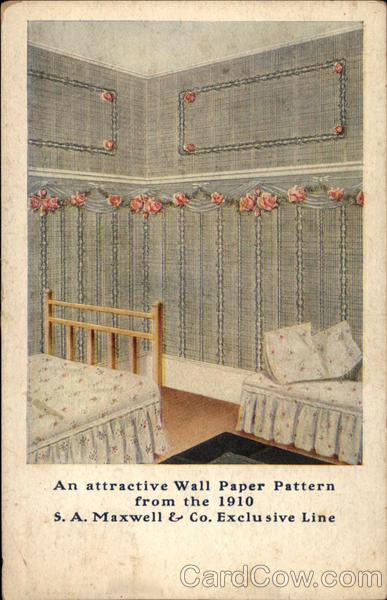 An Attractive Wall Paper Pattern Advertising