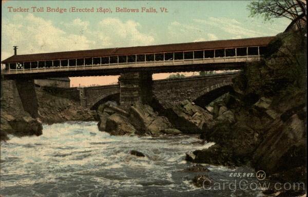 Tucker Toll Bridge Bellows Falls Vermont