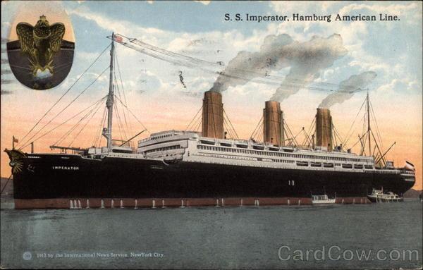 Ss Imperator Hamburg American Line Boats Ships
