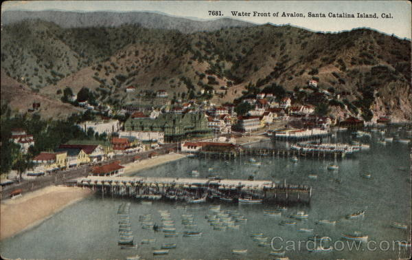 Water Front of Avalon Santa Catalina Island California