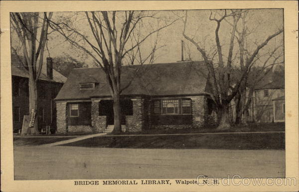 Bridge Memorial Library Walpole New Hampshire