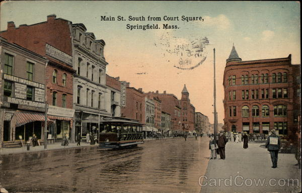 Main St. South from Court Square Springfield Massachusetts