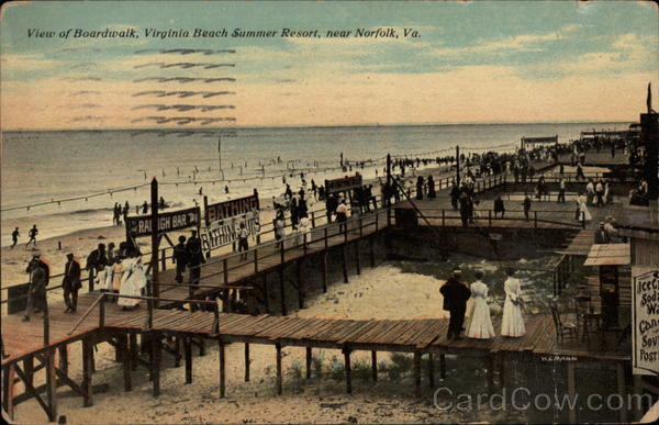 View of Boardwalk, Virginia Beach Summer Resort Norfolk