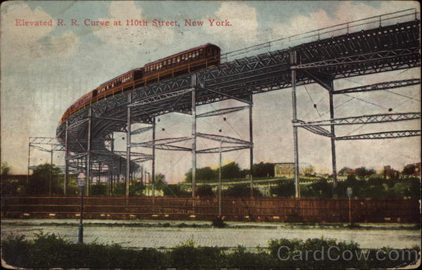 Elevated RR Curve at 110th street New York City