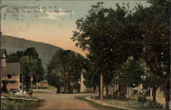 Main St. West from M.E. Parsonage Masonville New York