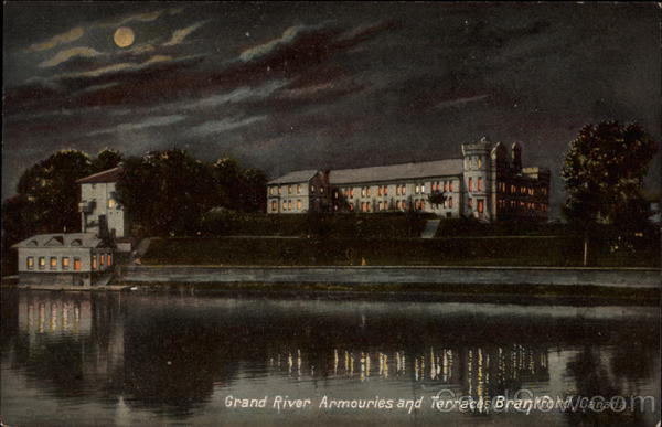 Grand River Armouries and Terrace Brantford Canada