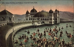 Saltair Pavilion and Bathers