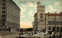 Mexican Supper, Gibbs Building and Post Office Postcard