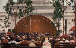 Band Shell, White City Postcard