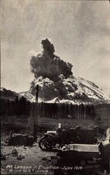 Mt. Lassen in Eruption - June 1914