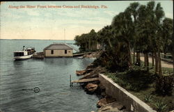 Along the River Front Between Cocoa and Rockledge Postcard