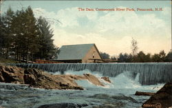 The Dam, Contoocook River Park Postcard