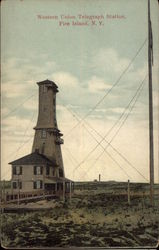 Western Union Telegraph Station Postcard