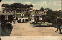 The Pavilion from the Pier, Little York Lake