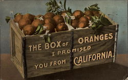 The Box of Oranges I Promised you from California