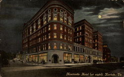 Monticello Hotel at Night