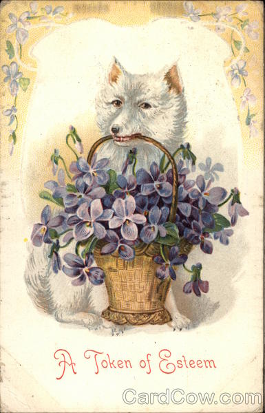 A Fox with a Basket of Violets