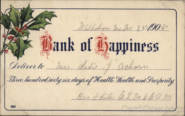 Bank of Happiness Greetings