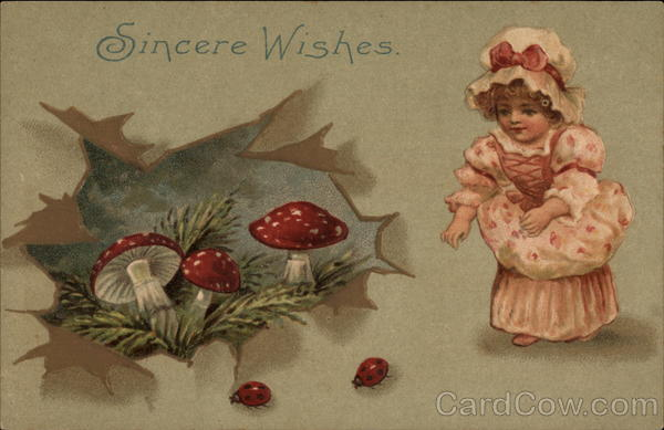 Sincere Wishes - Mushrooms & Ladybugs Girls