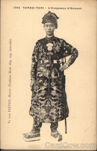 Emperor Thành Thái Vintage Post Card
