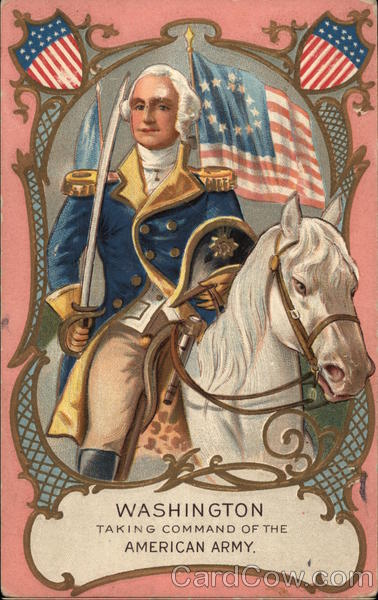 Washington Taking Command of the American Army President's Day