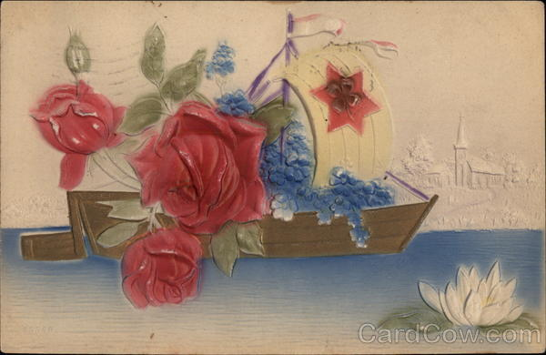 Roses in a Boat Flowers Airbrushed