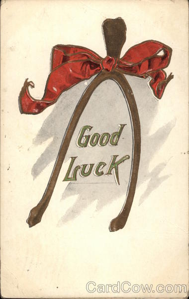 Good Luck, with Wishbone and Bow Greetings