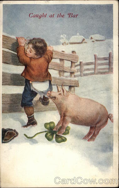 Boy and Pig Pigs