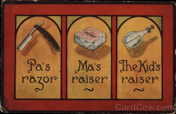 Pa's Razor, Ma's Raiser, The Kid's Raiser Comic, Funny